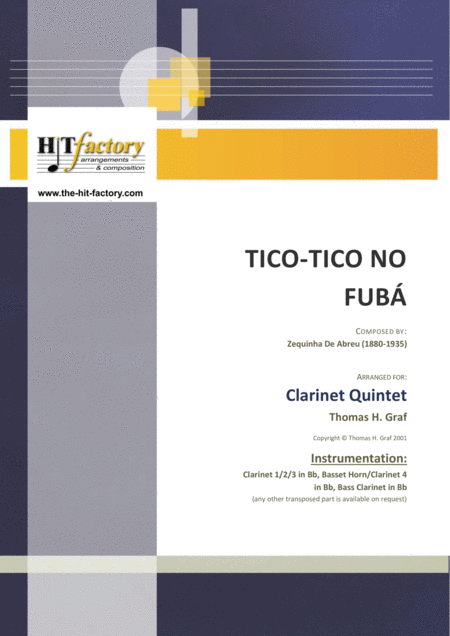 Tico-Tico no Fubá - Choro - Clarinet Quintet