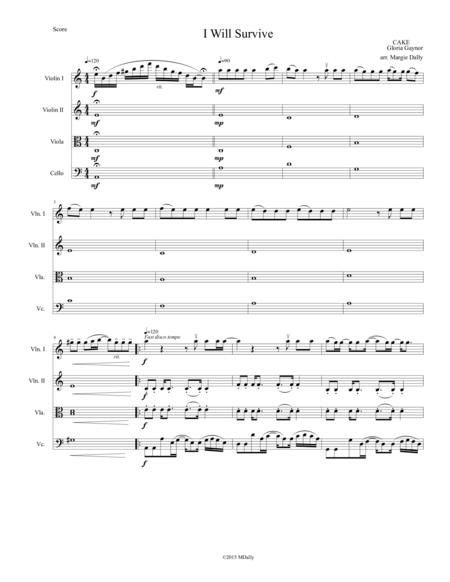 I Will Survive for String Quartet