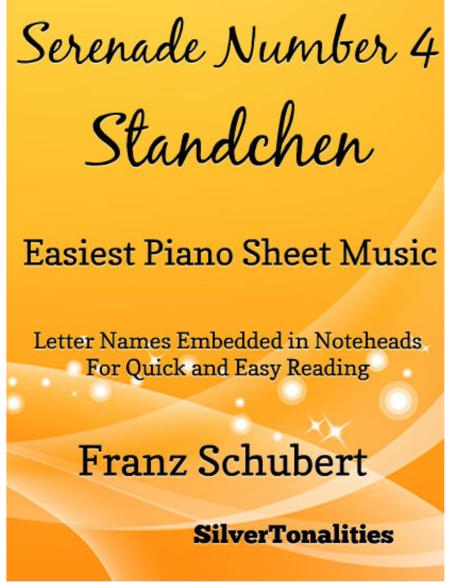 Serenade Number 4 Easiest Piano Sheet Music