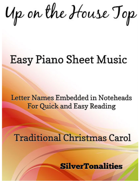 Up on the House Top Easy Piano Sheet Music