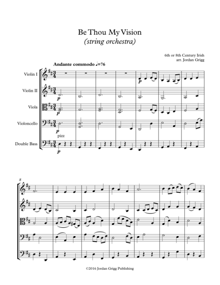 Be Thou My Vision (string orchestra)