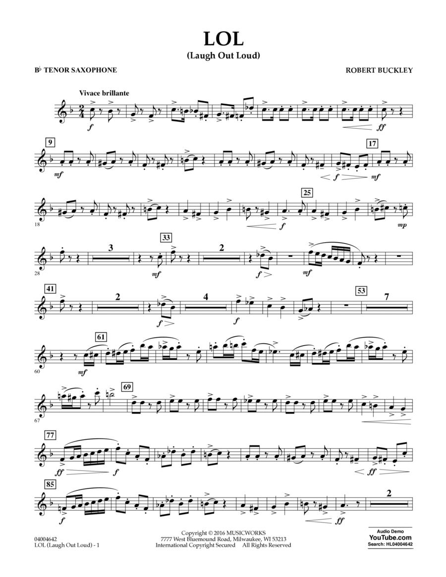 LOL (Laugh Out Loud) - Bb Tenor Saxophone