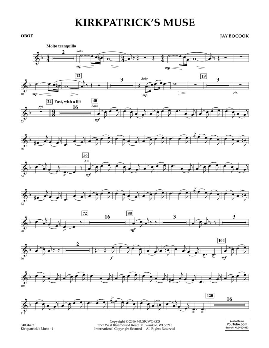 Kirkpatrick's Muse - Oboe