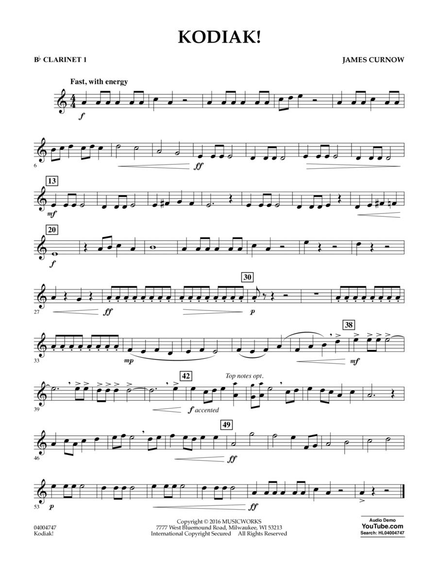 Kodiak! - Bb Clarinet 1