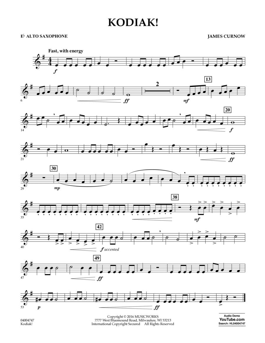 Kodiak! - Eb Alto Saxophone