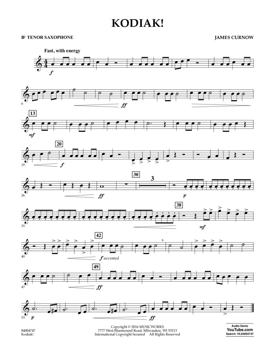Kodiak! - Bb Tenor Saxophone