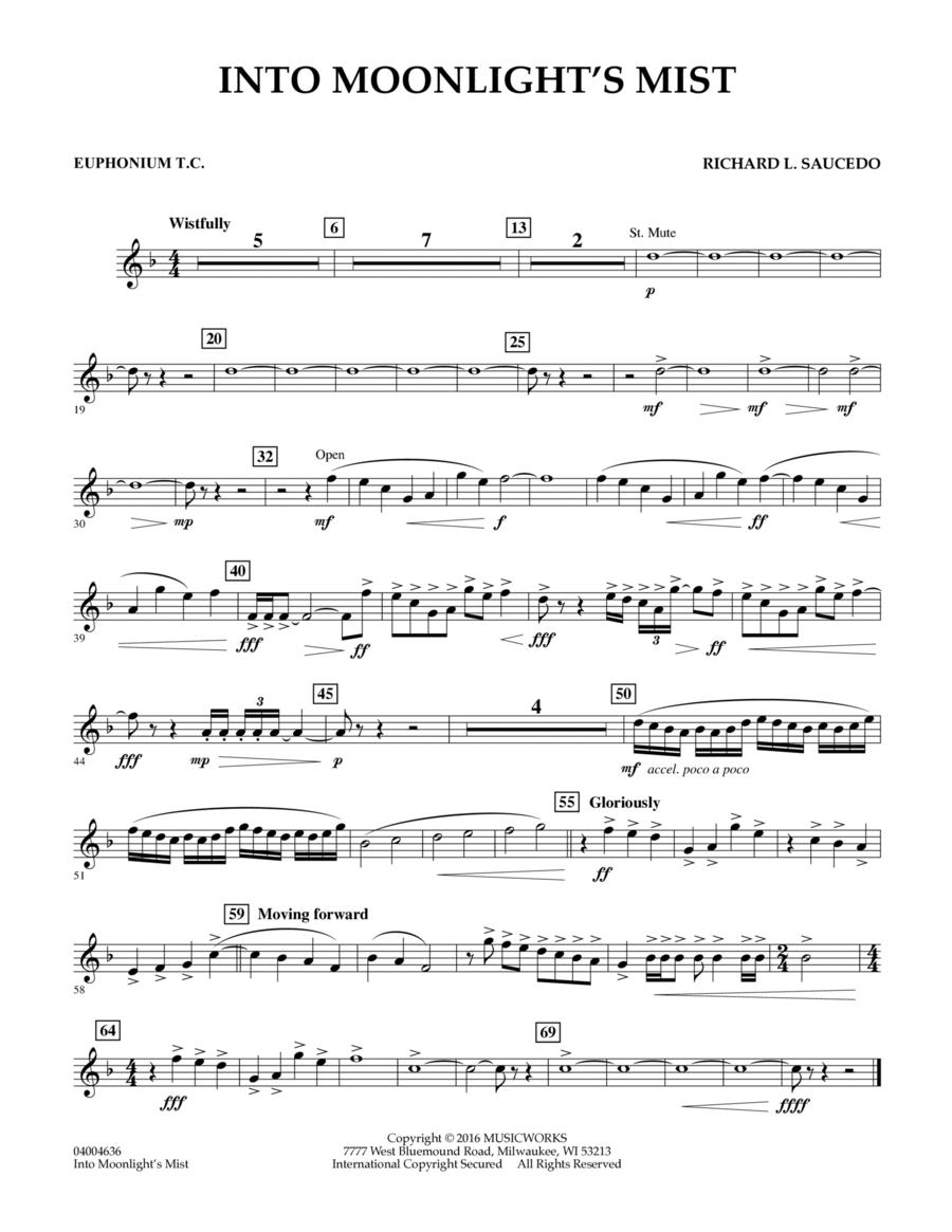 Into Moonlight's Mist - Euphonium in Treble Clef