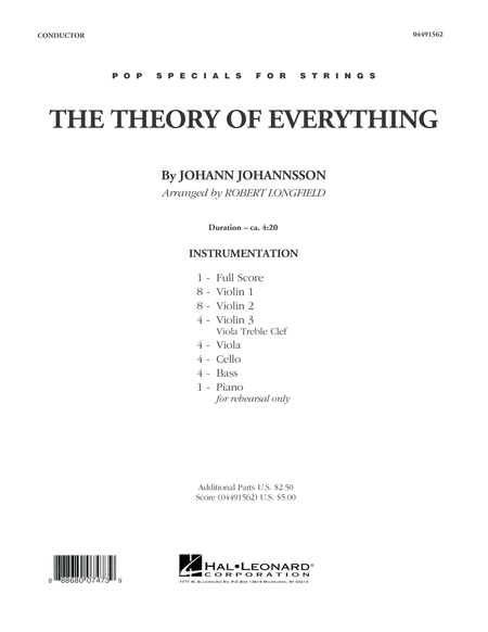 The Theory of Everything - Conductor Score (Full Score)