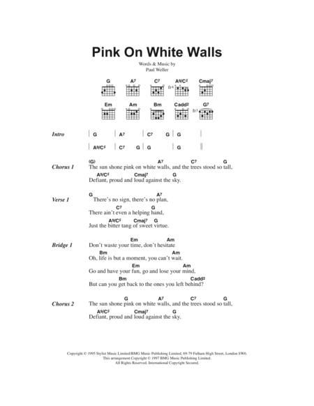 Pink On White Walls