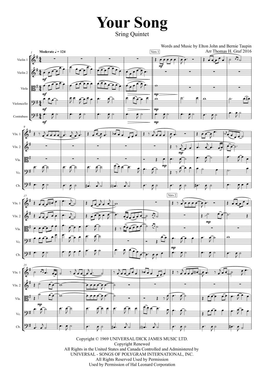 Your Song - Elton John - String Orchestra