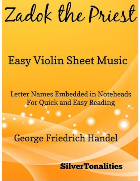 Zadok the Priest Easy Violin Sheet Music