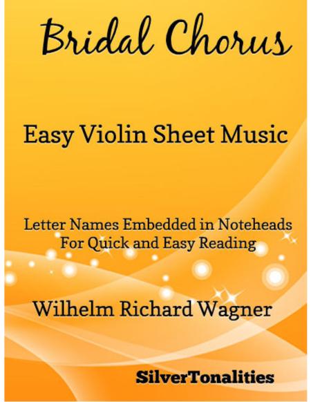Bridal Chorsu Easy Violin Sheet Music