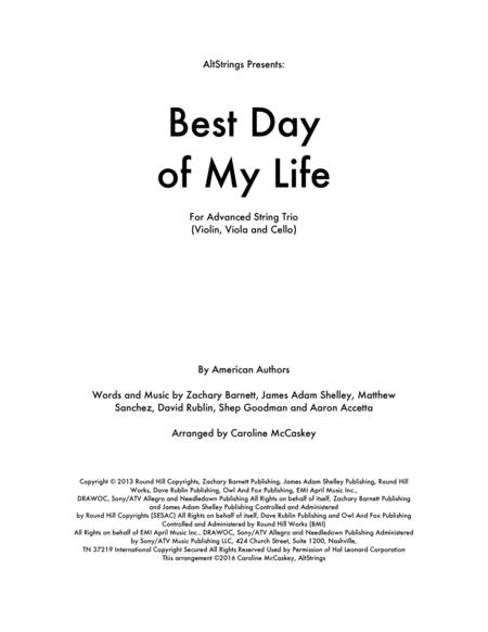 Best Day Of My Life - String Trio (Violin, Viola, Cello)