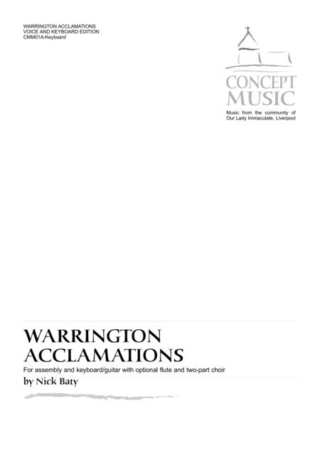 Warrington Acclamations (Keyboard edition)