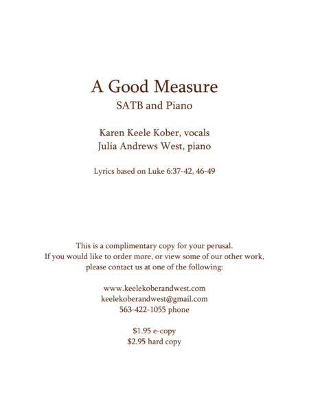 A Good Measure