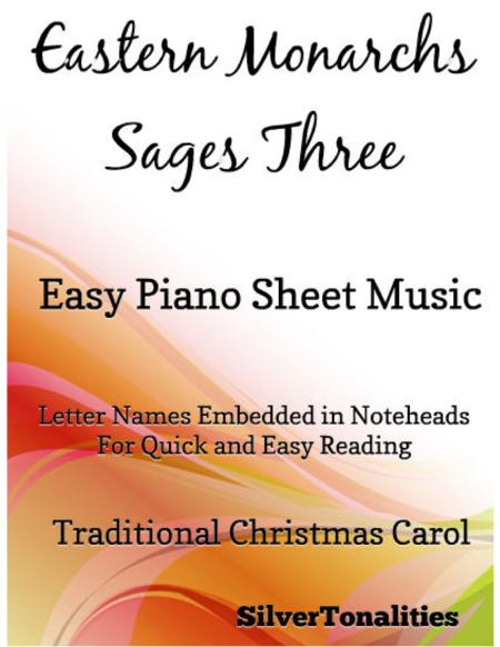 Eastern Monarchs Sages Three Easy Piano Sheet Music