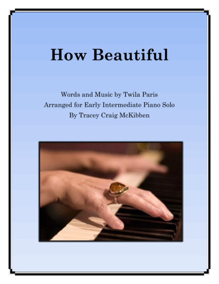 How Beautiful (Piano Solo)