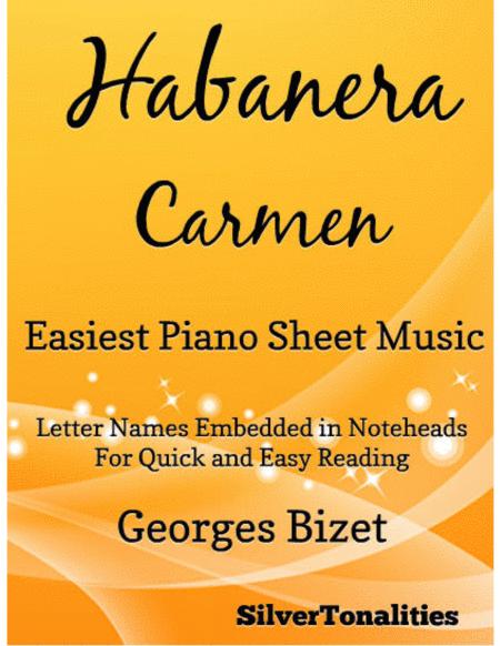 Habanera Easiest Piano Sheet Music
