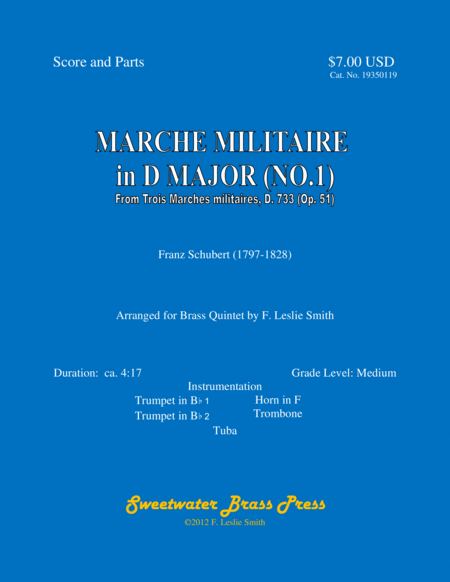 Marche militaire in D major (No.1)