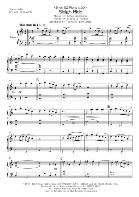 <Short EZ Piano #20 > Sleigh Ride