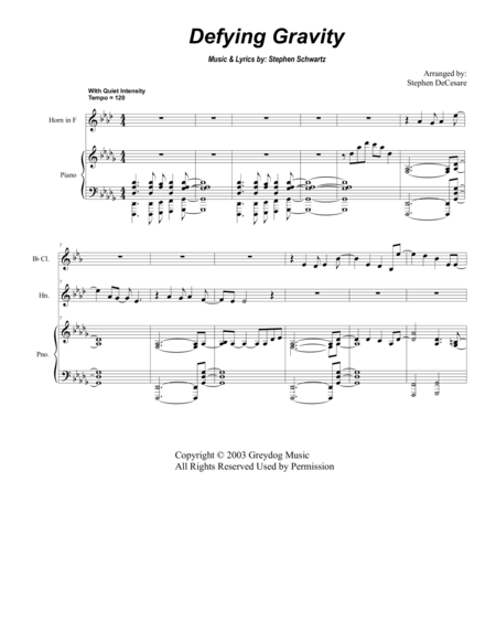 Defying Gravity (for Woodwind Quintet)