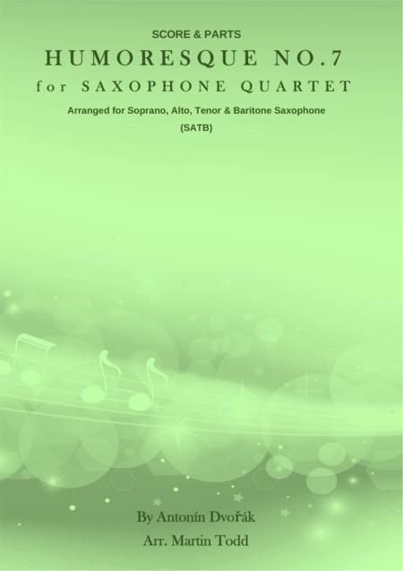 Humoresque No. 7 for Saxophone Quartet (SATB)