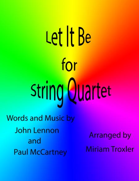 Let It Be for String Quartet