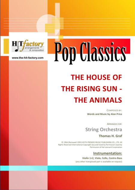 The house of the rising sun - The Animals - 1964 - String Orchestra