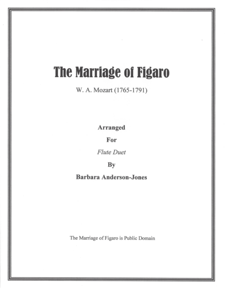 The Marriage of Figaro (Flute Duet)