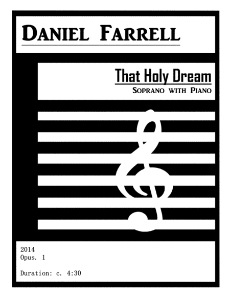 That Holy Dream - Soprano with Piano (Op. 1)