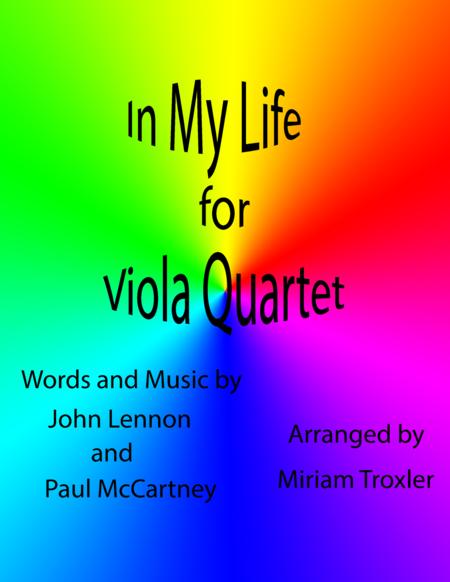 In My Life Viola Quartet