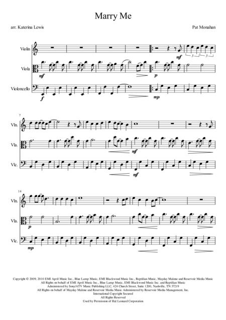 Marry Me (Violin, Viola, Cello)