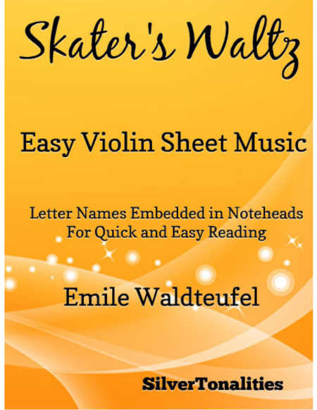 Skater's Waltz Easy Violin Sheet Music