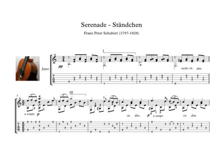Serenade ständchen Schubert classical guitar