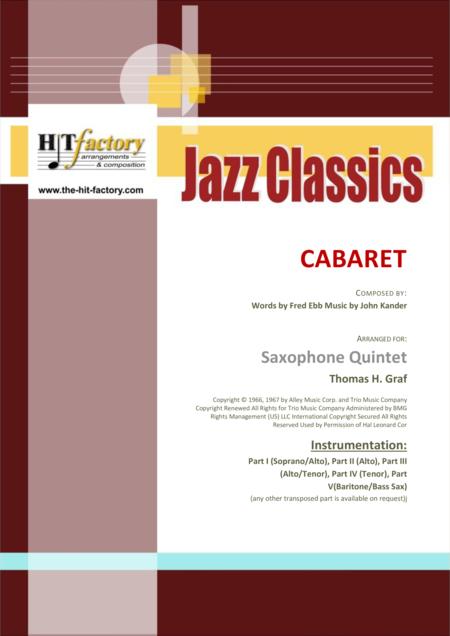Cabaret - Jazz - Liza Minelli - Saxophone Quintet
