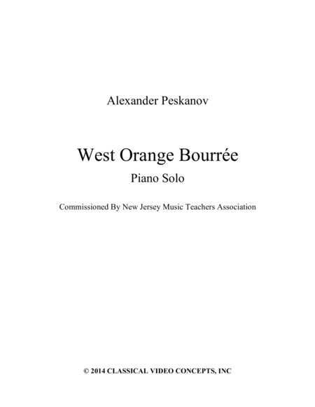 West Orange Bourree