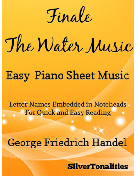 Finale the Water Music Easy Piano Sheet Music