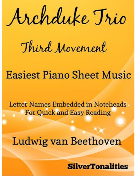 Archduke Trio Third Movement Easiest Piano Sheet Music