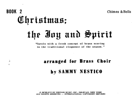 Christmas, The Joy & Spirit, Book 2 - Chimes & Bells