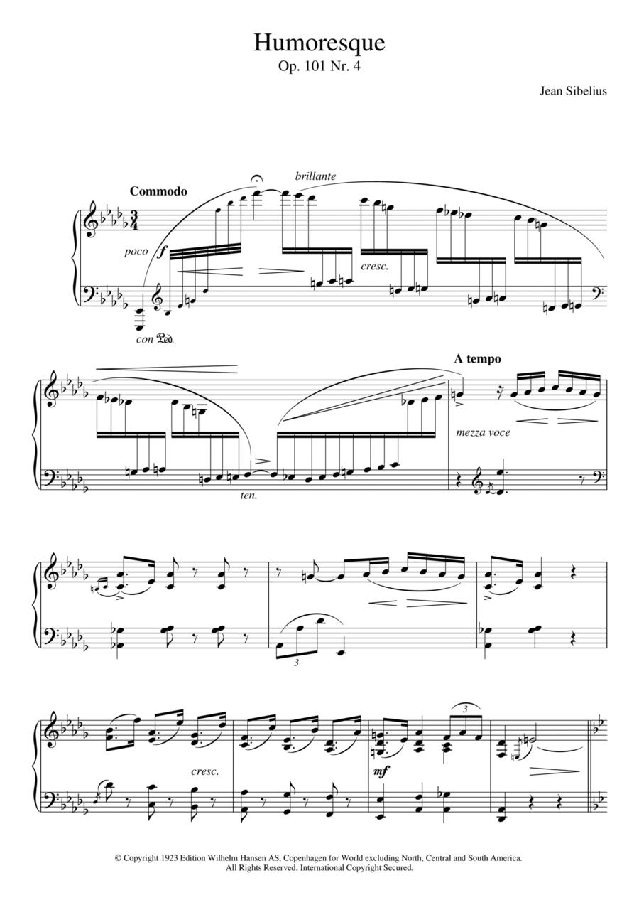 5 Morceaux Romantiques, Op.101 - IV. Humoresque