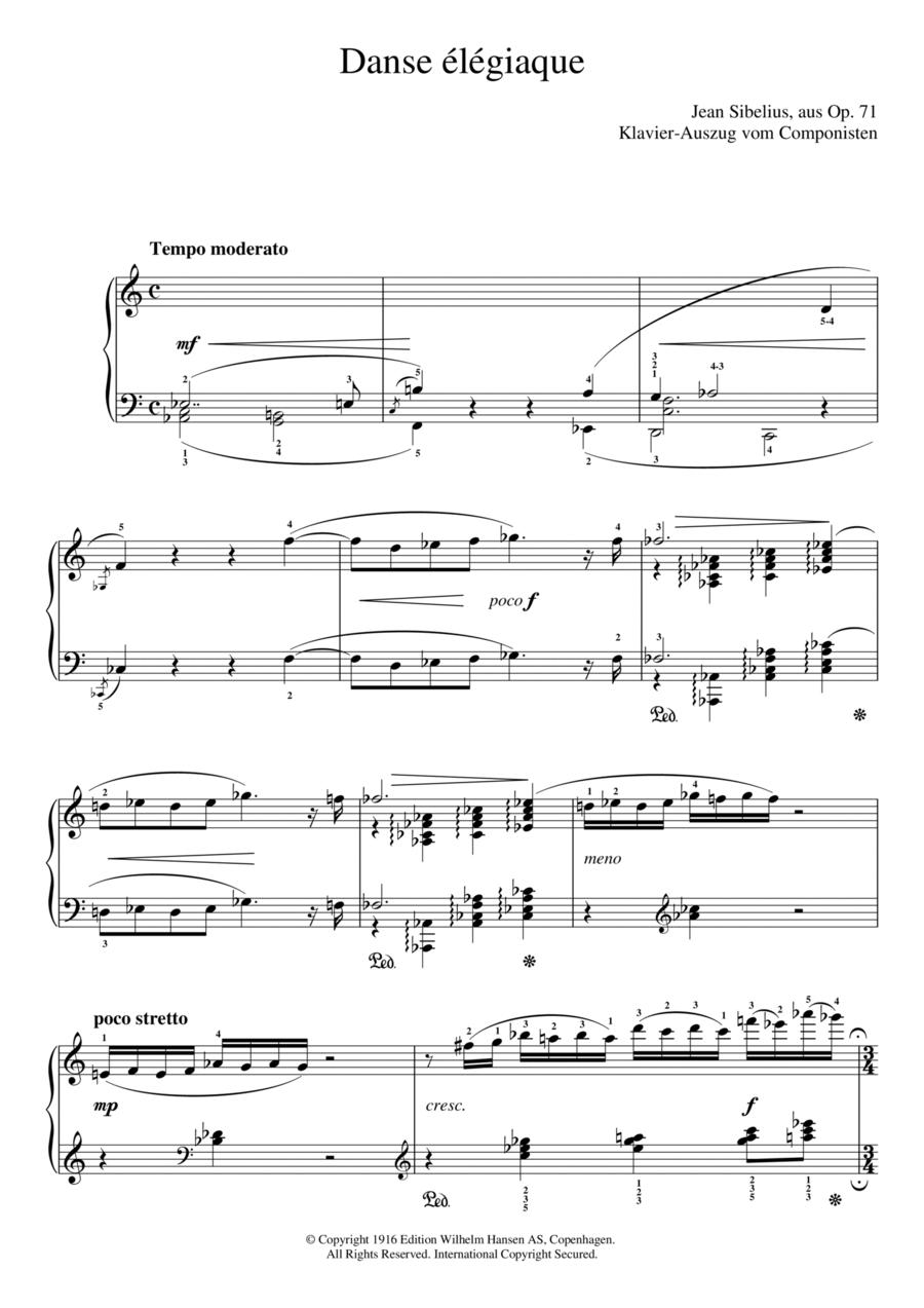 Danse Elegiaque (From Scaramouche, Op.71)