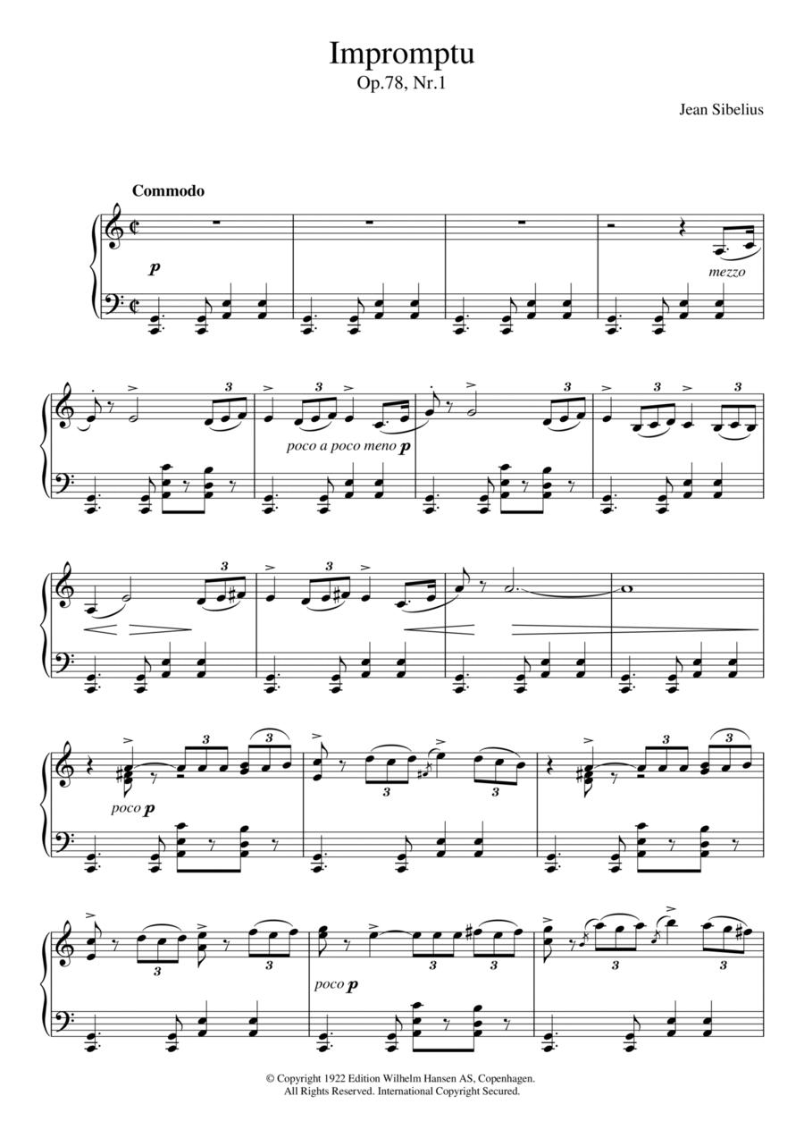 Impromptu, Op.78 No.1
