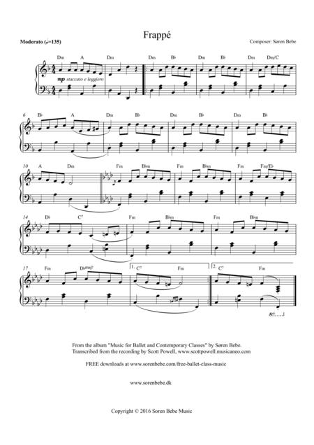 Music for Ballet Class - Frappé