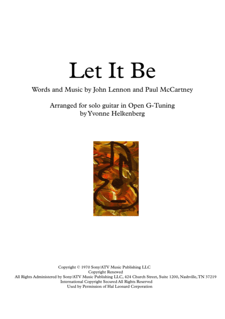 Let It Be ( for solo guitar )