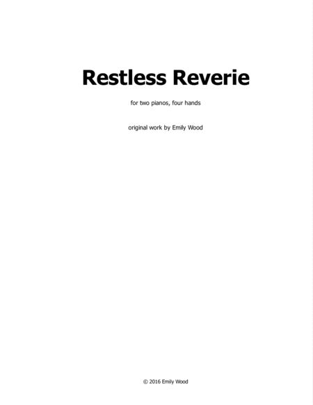 Restless Reverie (two pianos, four hands)