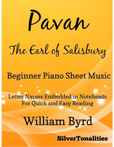Pavan the Earle of Salisbury Beginner Piano Sheet Music
