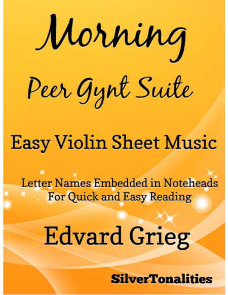 Morning Peer Gynt Suite Easy Violin Sheet Music
