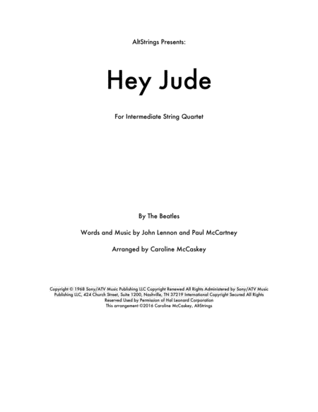 Hey Jude - String Quartet