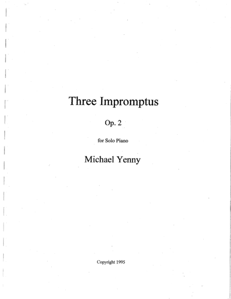 Three Impromptus, op. 2