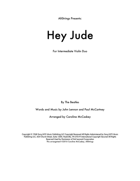 Hey Jude - Violin Duet